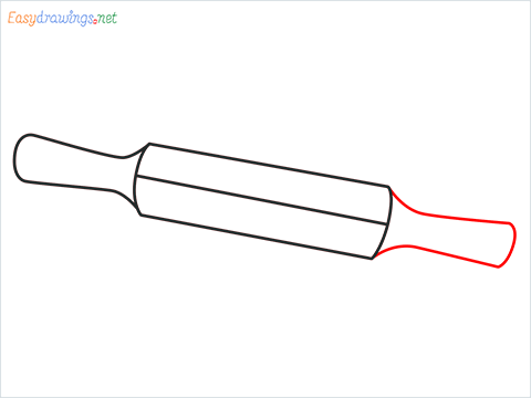 How to draw a Roller appliance step (5)