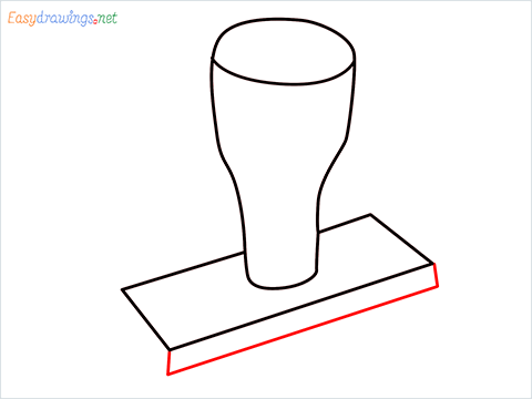 How to draw a Rubber stamp step (4)