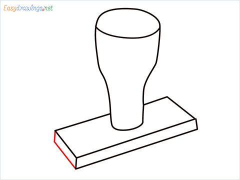 How to draw a Rubber stamp step (5)