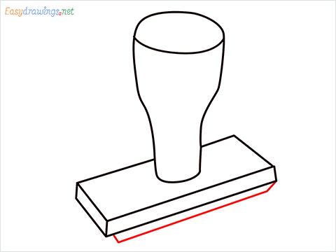 How to draw a Rubber stamp step (6)