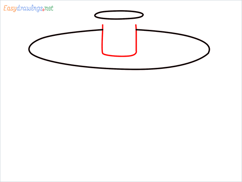 How to draw a Salad spinner step (3)