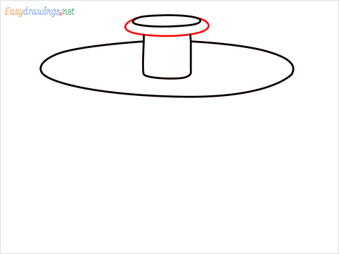 How to draw a Salad spinner step (4)