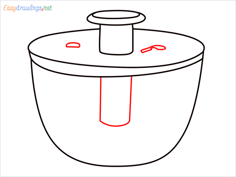 How to draw a Salad spinner step (7)