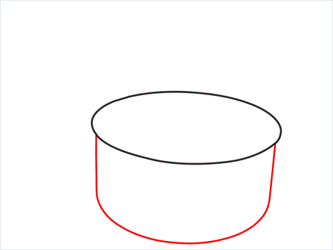 How to draw a Saucepan step (2)