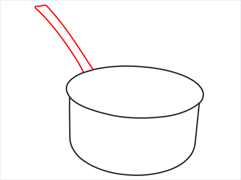 How to draw a Saucepan step (3)