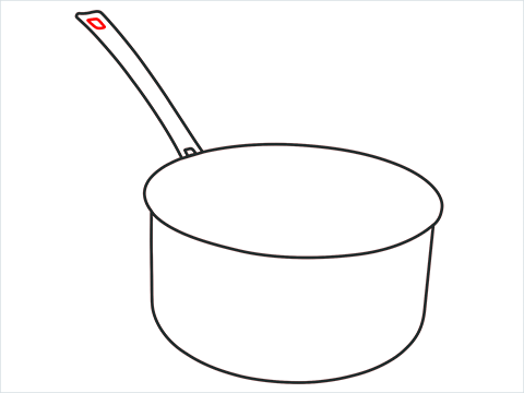 How to draw a Saucepan step (5)
