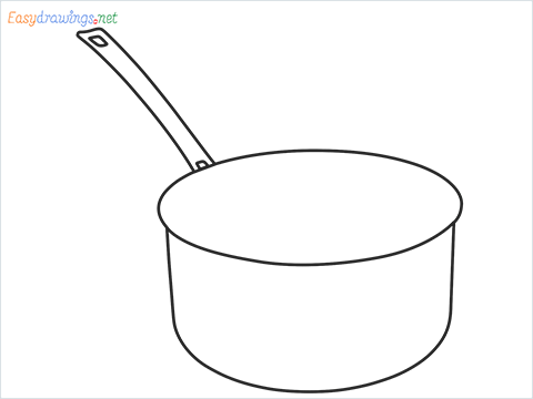 How to draw a Saucepan step by step for beginners