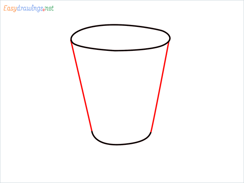 How to draw a Shot glass step (3)