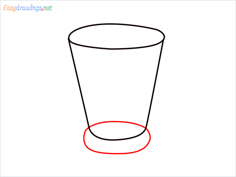 How to draw a Shot glass step (4)