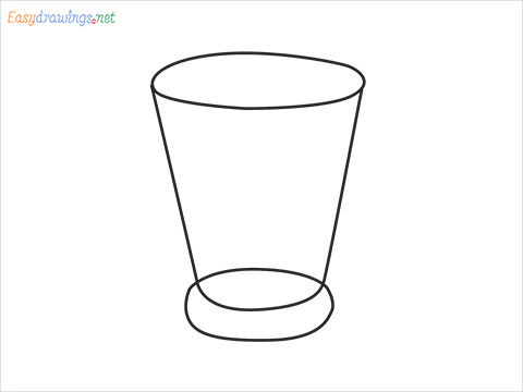 How to draw a Shot glass step by step for beginners
