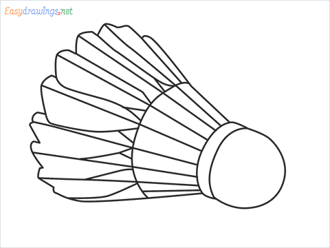 How to draw a Shuttlecock step by step for beginners