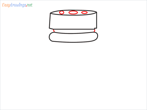 How to draw a Spice container step (4)