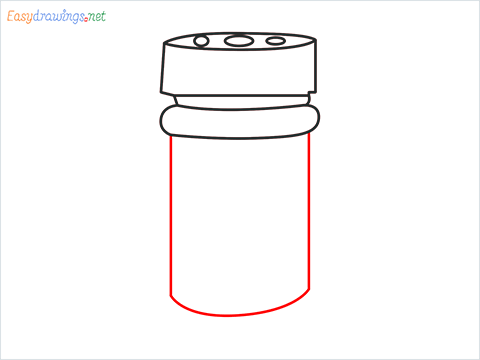 How to draw a Spice container step (5)