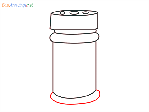 How to draw a Spice container step (6)