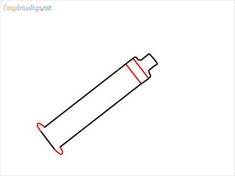 How to draw a Syringe step (3)