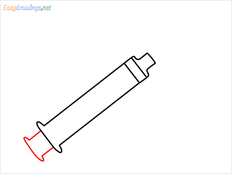 How to draw a Syringe step (4)