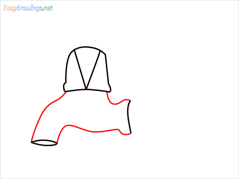 How to draw a Tap step (4)