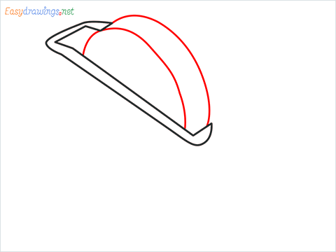 How to draw a Tape dispenser step (3)