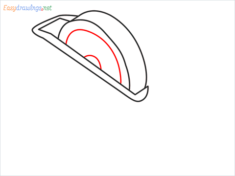 How to draw a Tape dispenser step (4)