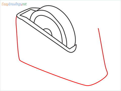 How to draw a Tape dispenser step (5)