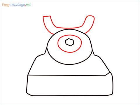 How to draw a Telephone step (4)