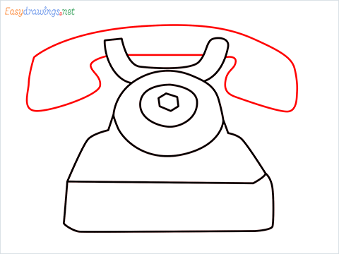 How to draw a Telephone step (5)