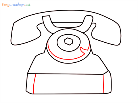 How to draw a Telephone step (6)