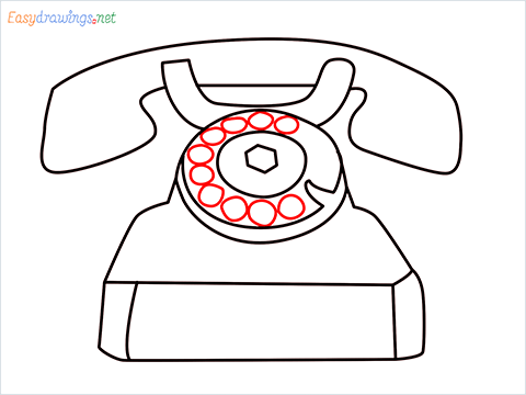 How to draw a Telephone step (7)