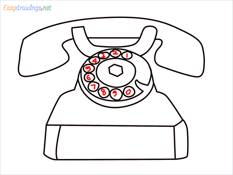 How to draw a Telephone step (8)