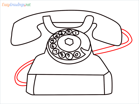 How to draw a Telephone step (9)
