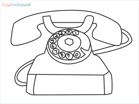 How to draw a Telephone step by step for beginners