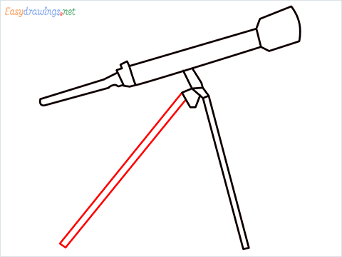 How to draw a Telescope step (6)