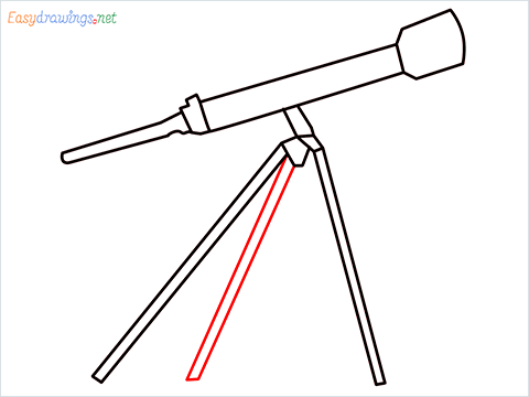 How to draw a Telescope step (7)