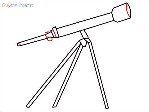 How to draw a Telescope step (8)