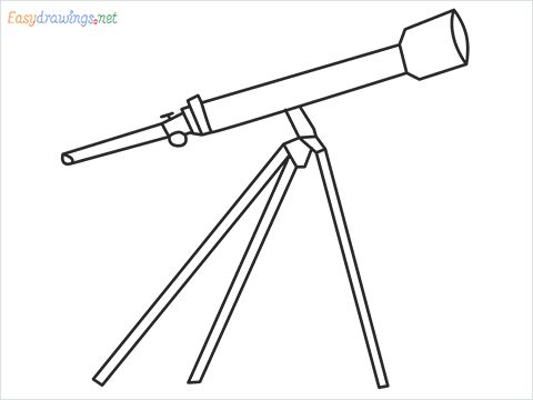 How to draw a Telescope step by step for beginners