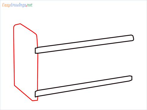 How to draw a Test tube rack step (3)