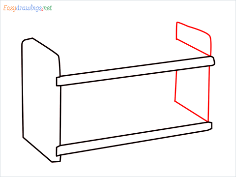 How to draw a Test tube rack step (4)