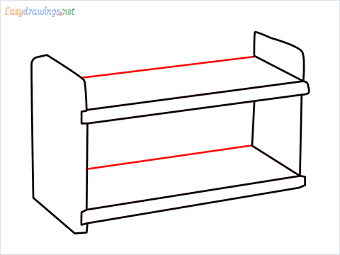 How to draw a Test tube rack step (5)