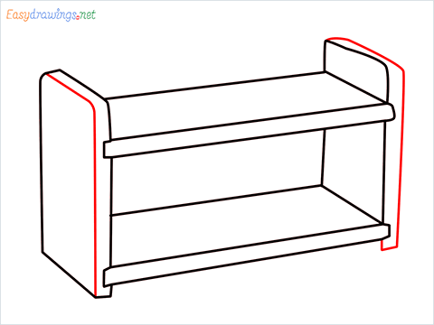 How to draw a Test tube rack step (6)