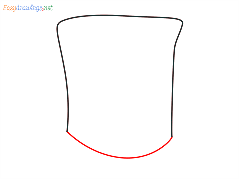 How to draw a Top hat step (2)