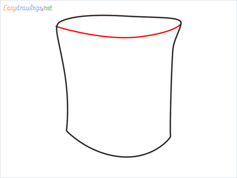 How to draw a Top hat step (3)