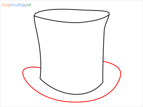 How to draw a Top hat step (4)