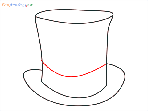 How to draw a Top hat step (5)