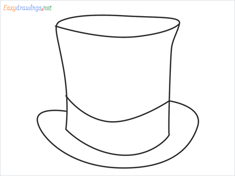 How to draw a Top hat step by step for beginners