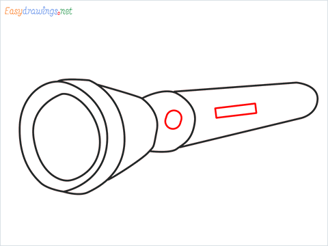 How to draw a Torch step (7)