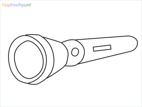 How to draw a Torch step by step for beginners