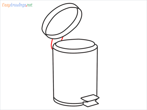 How to draw a Trash can step (8)