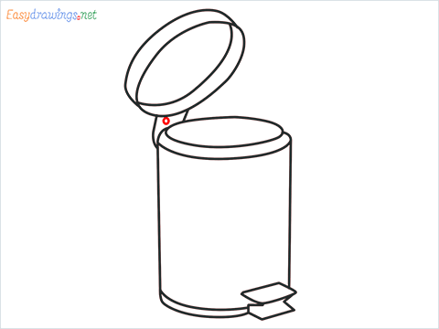How to draw a Trash can step (9)
