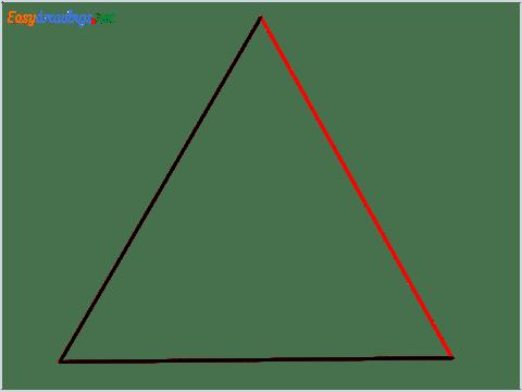 How to draw a Triangle shape step (3)