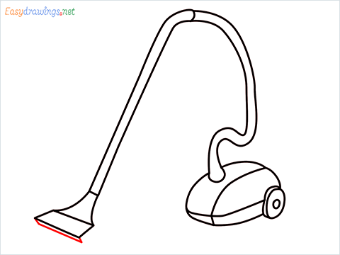 How to draw a Vacuum cleaner step (10)
